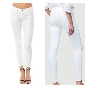 Frame Denim Skinny Cropped Jean White Size 28
